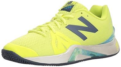 New Balance Men's 996v2 Tennis Shoe, Blue/Yellow, 10.5 D US