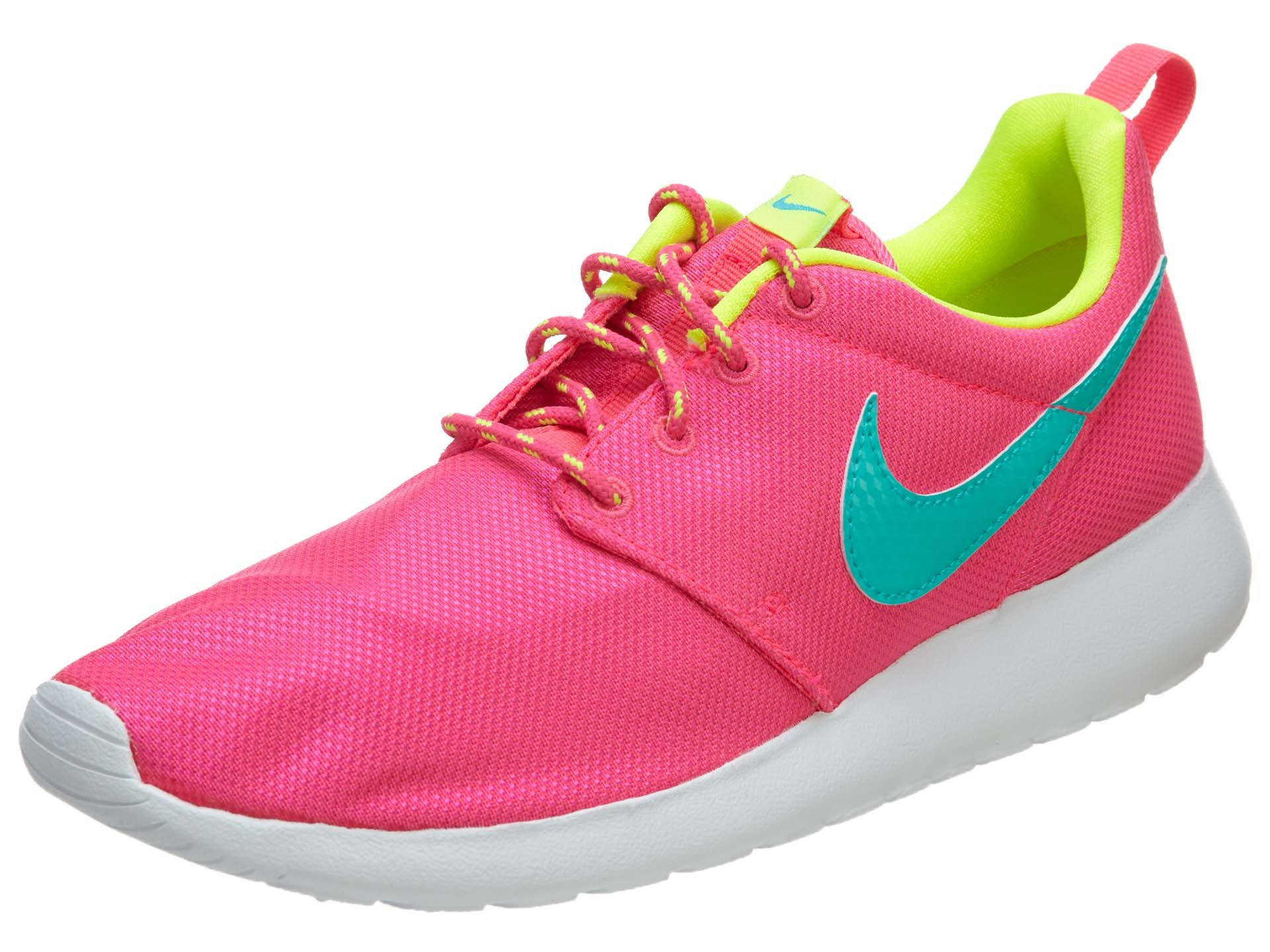 Nike Roshe Run Pink Youths Trainers 7US (6UK) by Nike (Image #1)