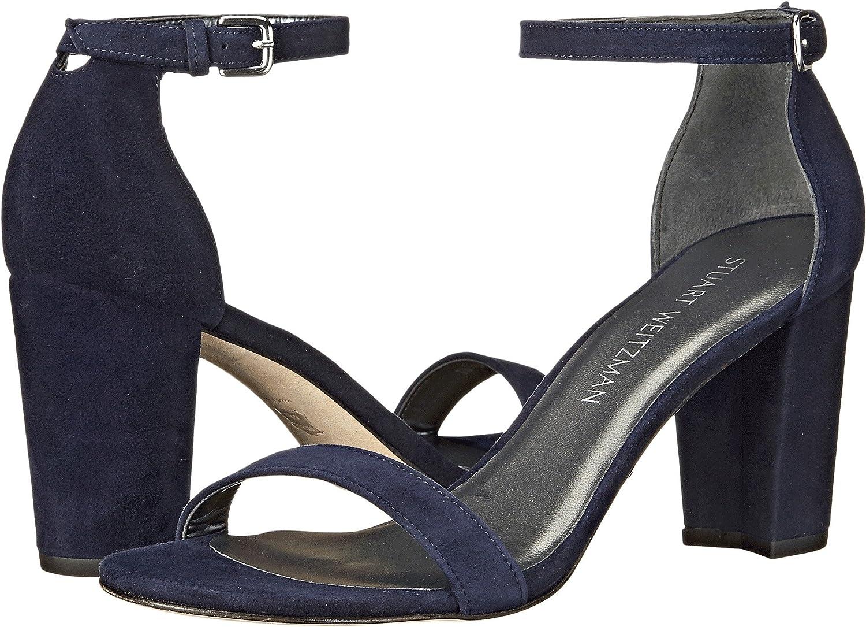 Stuart Weitzman Women's Nearlynude Heeled Sandal B017MWWQD2 5 N US|Blue