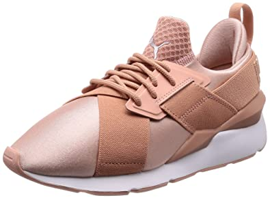 Amazon Com Puma Muse Satin Ep Womens Sneakers Pink Fashion Sneakers