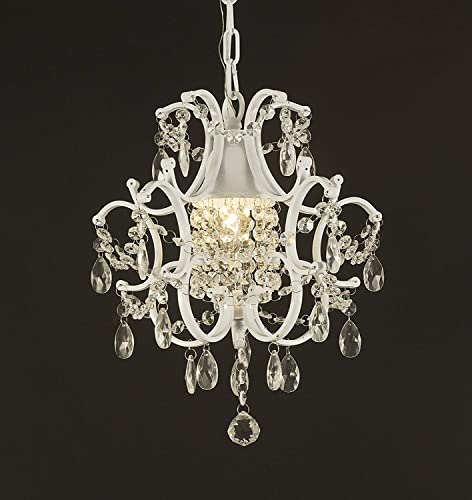 Jac D'Lights J10-592/1 Wrought Iron Crystal Chandelier