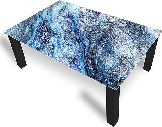Deko Cristal Mesa Piedra Azul 45 cm de Altura – Mesa con Tablero ...