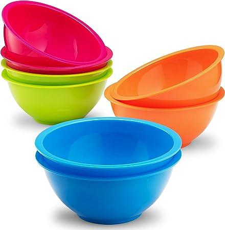 Amazon.com: Plaskidy - Cuencos para cereales, incluye 8 ...