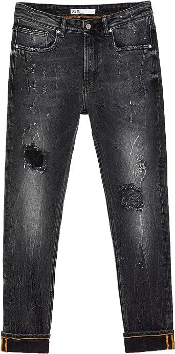 Zara 6855 300 800 Pantalones Vaqueros Para Hombre Negro 38 Eu Amazon Es Ropa Y Accesorios