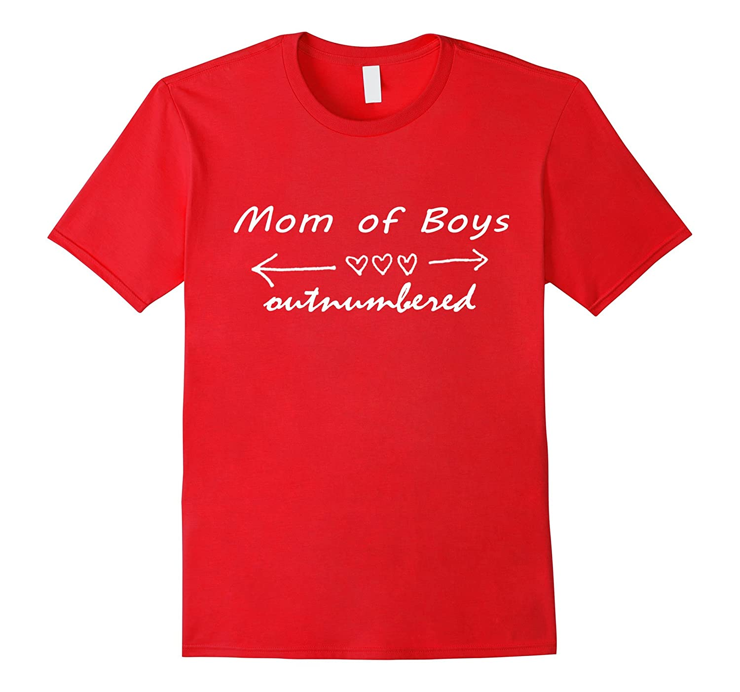 Outnumbered Mom of Boys Mothers Day T-Shirt-TD