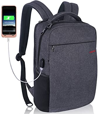 a3319308c2f LAPACKER 12-15.6 Inch Lightweight Business rechargeable backpack for  Men&Women, Slim Anti thief College