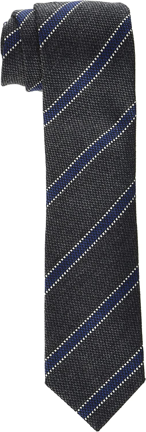 Hackett London Cotton & Wool Stripe Conjunto de corbata, Gris ...