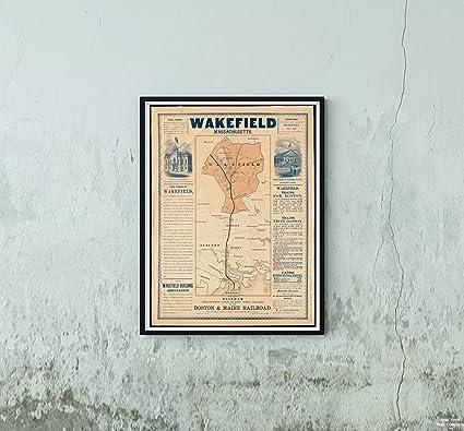 Amazon.com: 1870 Map Wakefield Wakefield, Machusetts ... on map boston area towns, jamaica plain boston, massachusetts boston, tourism boston, harvard square boston, things to do in boston, metro map boston, greater boston, fallout boston, towns surrounding boston, subway in boston, downtown boston, map massachusetts, weather boston, world map boston, back bay boston, map ny, lakes in boston, hyatt regency boston, north end boston,