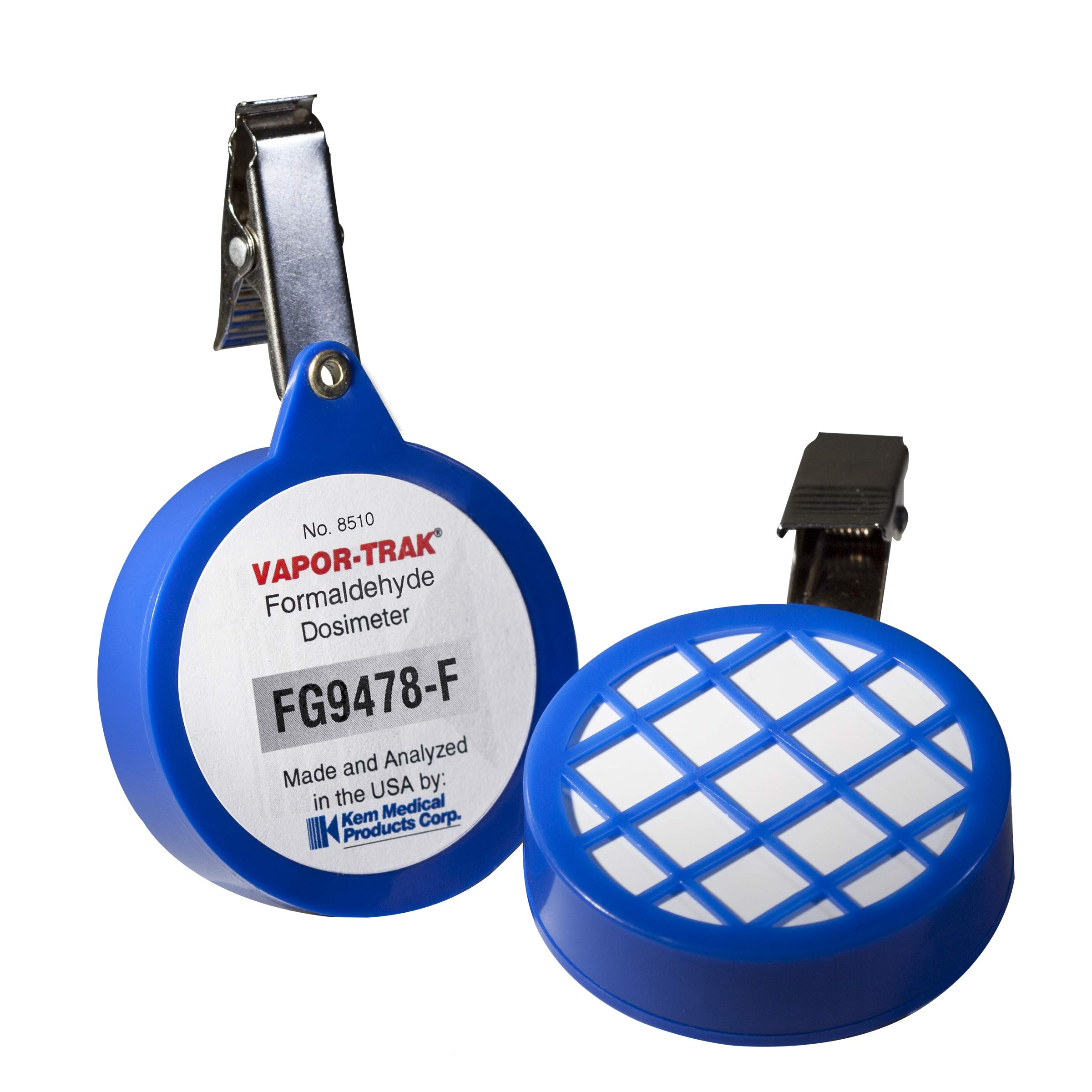 VAPOR-TRAK Formaldehyde Vapor Monitors (for Personal Safety Monitoring)- 4 per Box