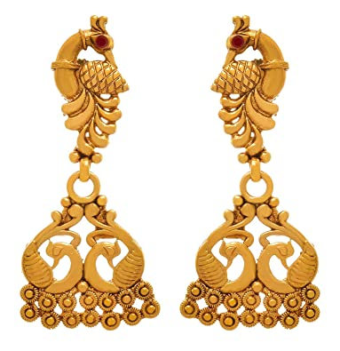 60d1381f64 Buy Bfc Traditional One Gram Gold Plated Peacock Designer Earring For Woman  And Girls Online at Low Prices in India | Amazon Jewellery Store - Amazon.in