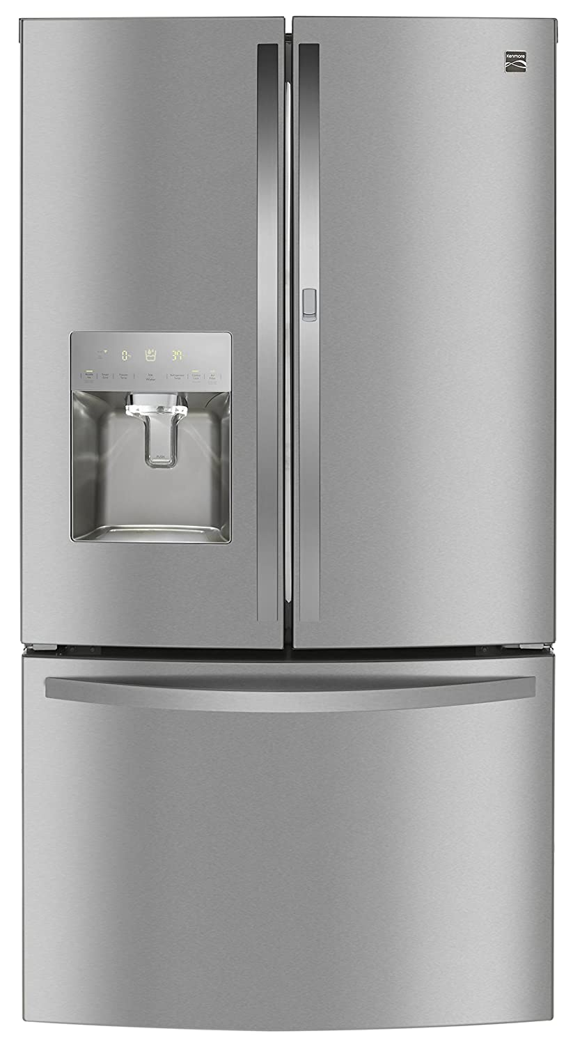 Kenmore 73115 French Door Smart Refrigerator, 27.7 cu. ft. in Stainless-Works with Alexa and enabled with Amazon Dash Replenishment System, includes delivery and hookup