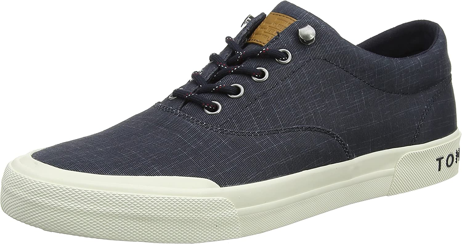 Tommy Hilfiger Heritage Washed Canvas Lace Up, Zapatillas para Hombre