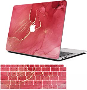 AOGGY MacBook 12 Inch Case (Model: A1534,with Retina Display), Plastic Hard Shell Protection Case,with MacBook 12 Inch Keyboard Cover - Red Wine