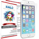 Halo Screen Protector Film High Definition (HD) Clear (Invisible) for iPhone 6 - [3 screen protectors in 1 Pack] - Lifetime Replacement Warranty