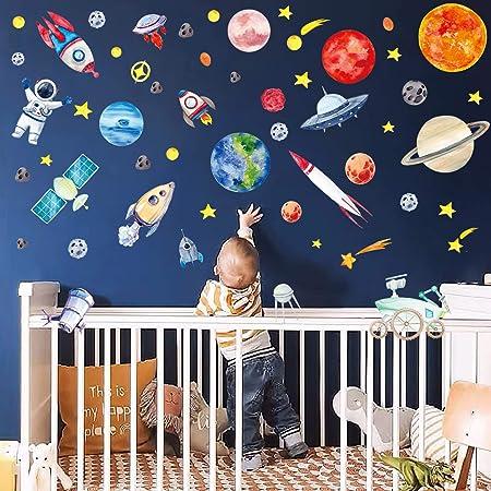Childrens Space Rocket Planets Wall Tattoo Wall Sticker Wall Sticker F2174