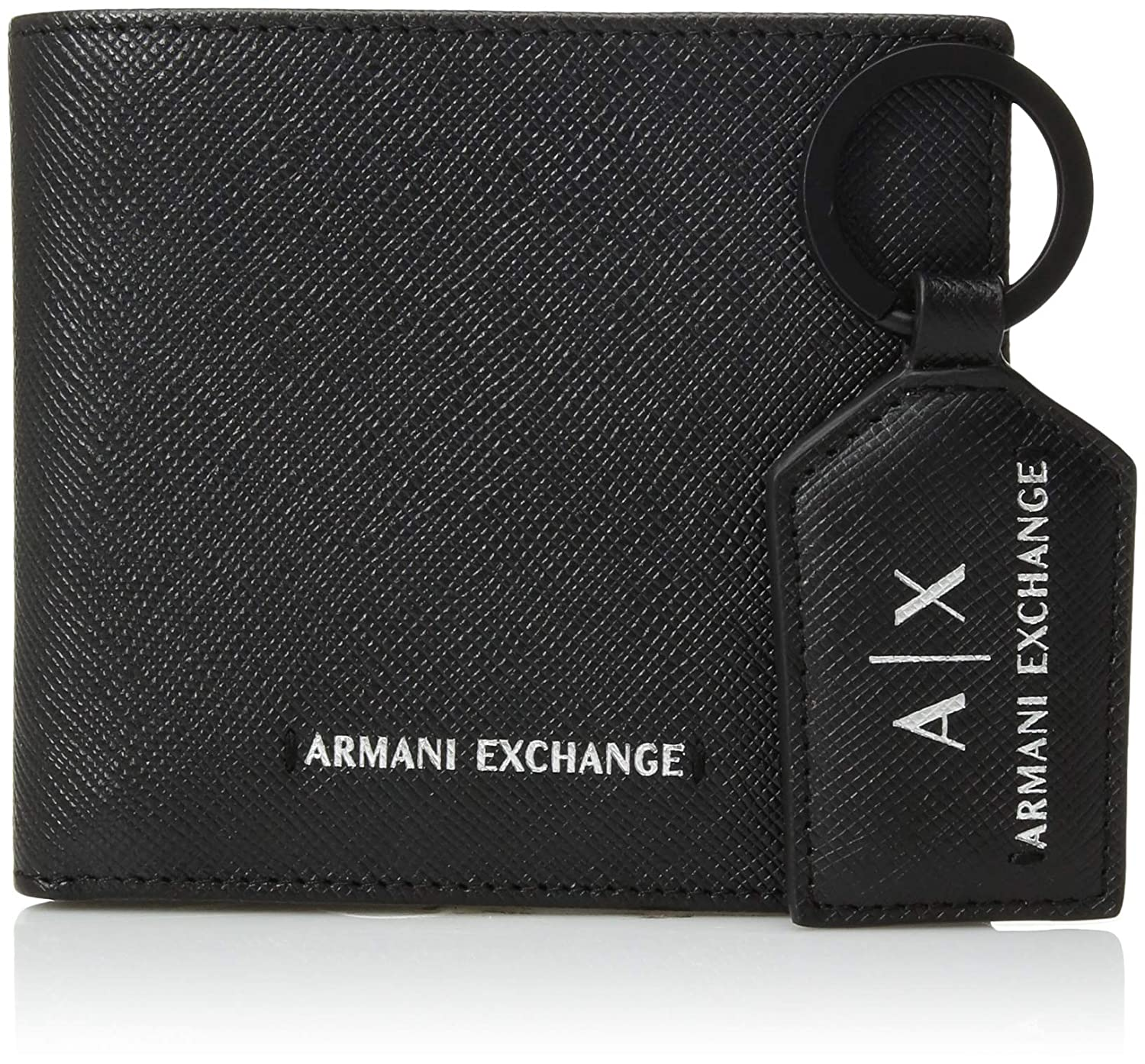 a74424b35c1c Amazon.com: Armani Exchange Men's Wallet & Key Ring Gift Set, black ...