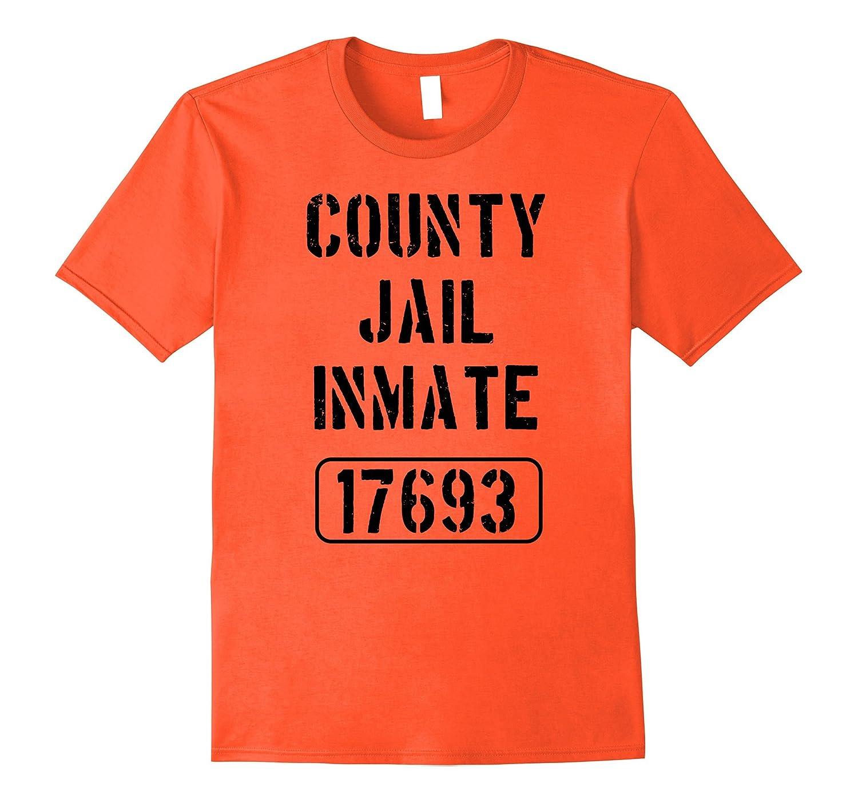 Prisoner Costume Tshirt | County Jail Inmate Funny Tee-T-Shirt