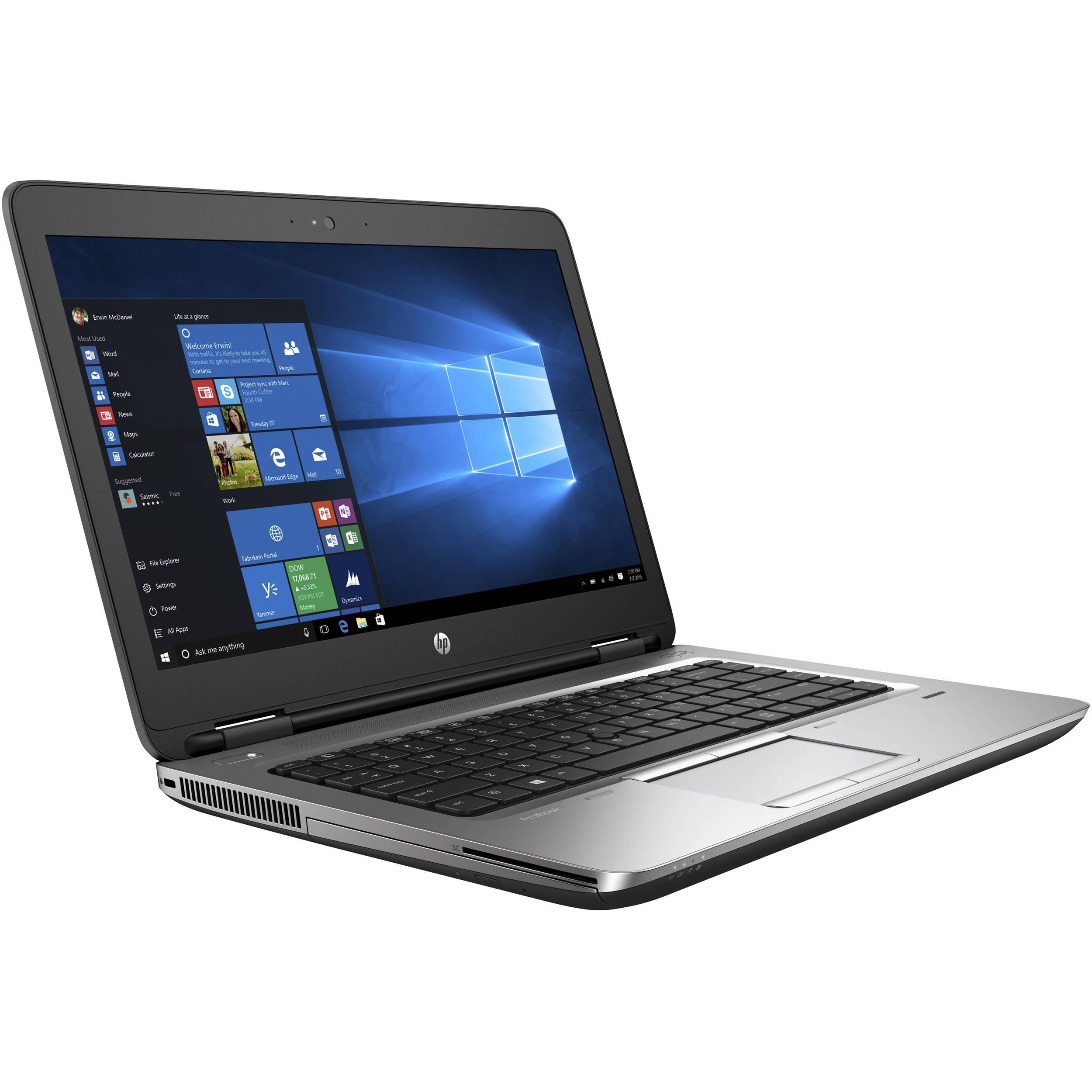 HP ProBook 650 G3 Business Laptop: 15.6'' (1366x768), Intel Core i7-7600U, 256GB NVMe SSD, 16GB DDR4, DVD-RW, Backlit Keyboard, Windows 10 Professional