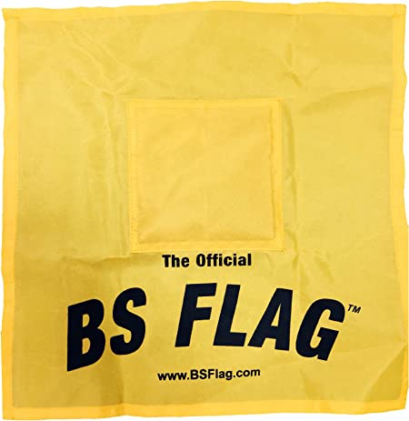Amazon.com : Original BS Flag - Yellow - Fun at The Office, Sporting  Events, Politics - Single Pack : Office Products : Garden & Outdoor