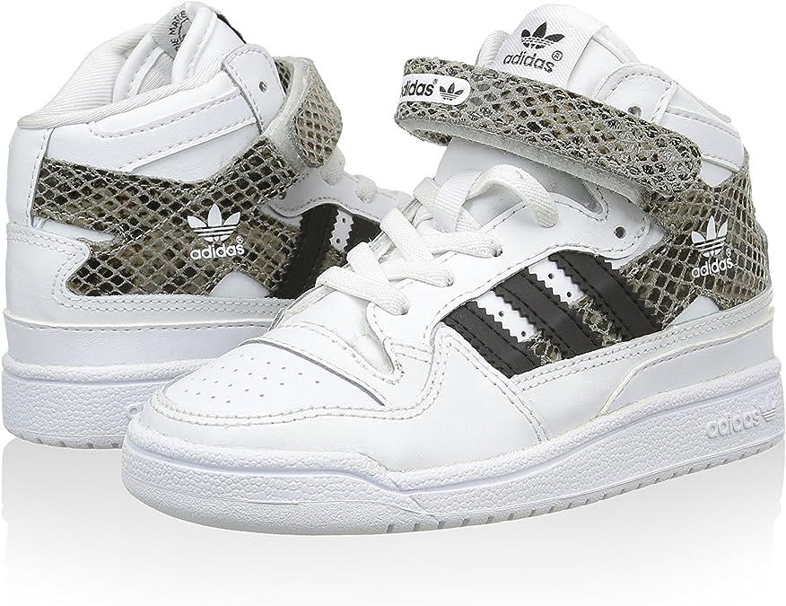 adidas Forum Mid Snake El I, Zapatillas Infantil, Blanco/Marrón ...