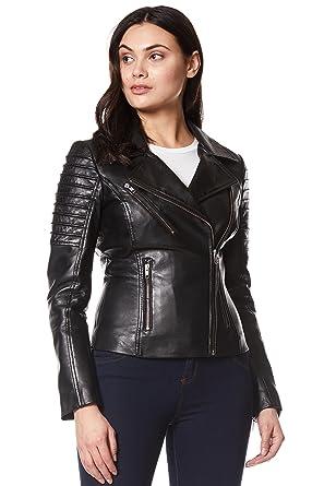 Ladies Real Leather Jacket Stylish Fashion Designer Soft Biker