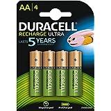 Duracell HR06-P - Pila recargable alcalina AA (paquete de 4 unidades)