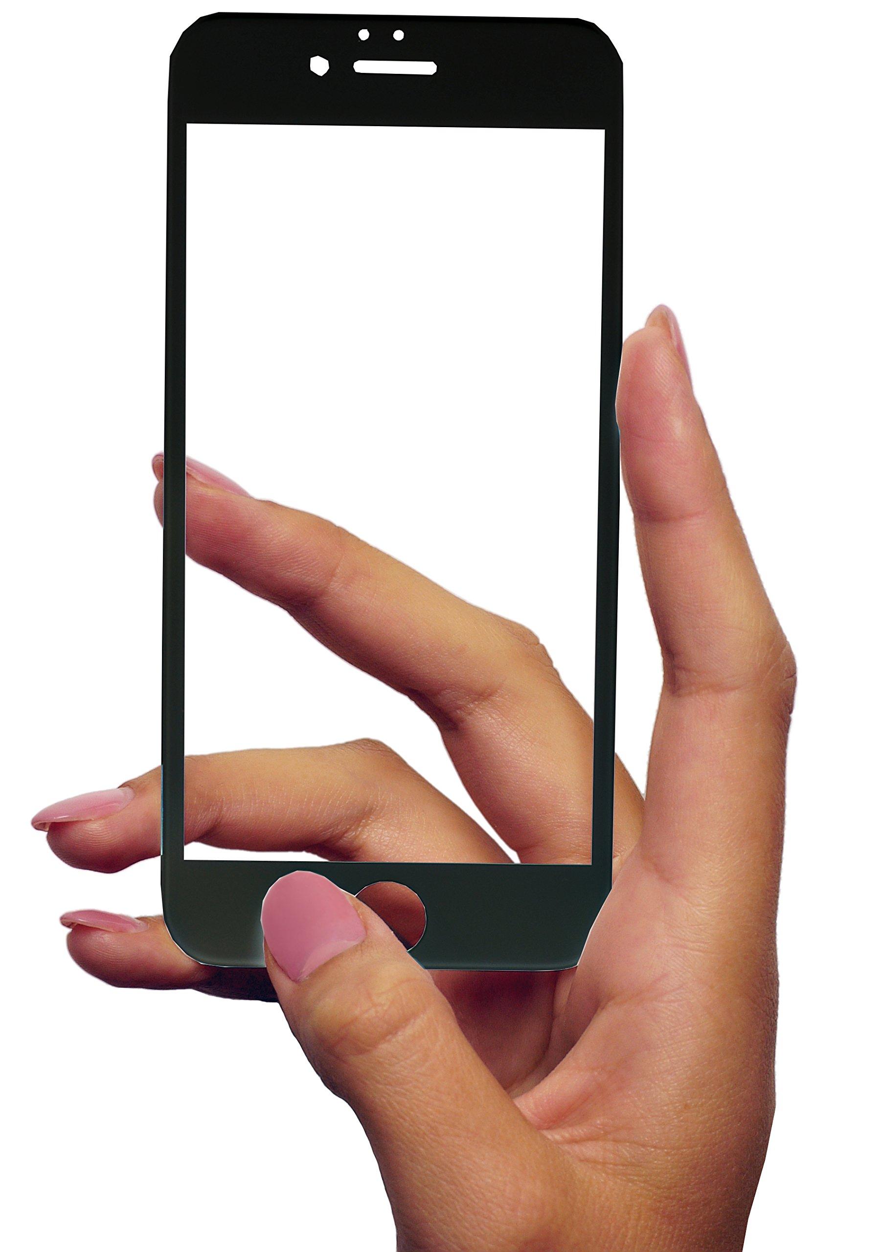 MyGadget Displayschutz Folie Clear für Apple iPhone 6 / 6s - Panzerglas Full Screen 9H hart - abgerundete Glasfolie Display Schutzfolie Klar in Schwarz