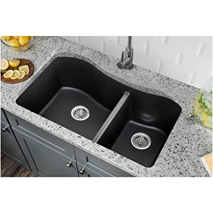 Undermount Double Kitchen Sink.Cahaba Ca324233 B Quartz 60 40 Undermount Double Bowl