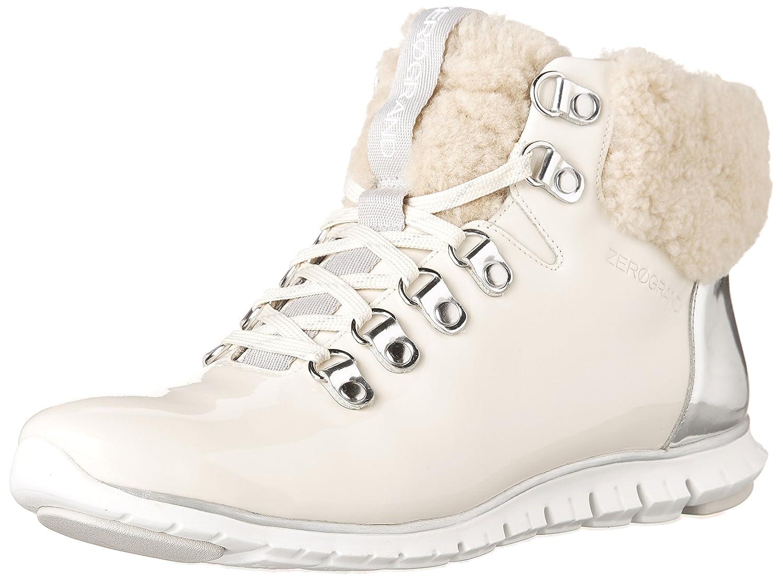 Cole Haan Women's Zerogrand Hikr Boot B076DDR6T5 5.5 B(M) US|Optic White Waterproof Patent-silver Spe