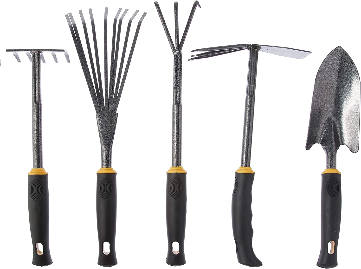 Centurion 485 Durable 5 Piece Garden Tool Set, Yellow