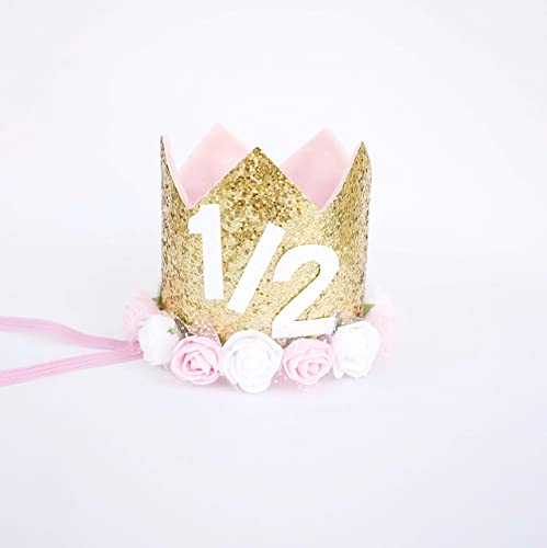 Half Birthday Crown For Baby Girl