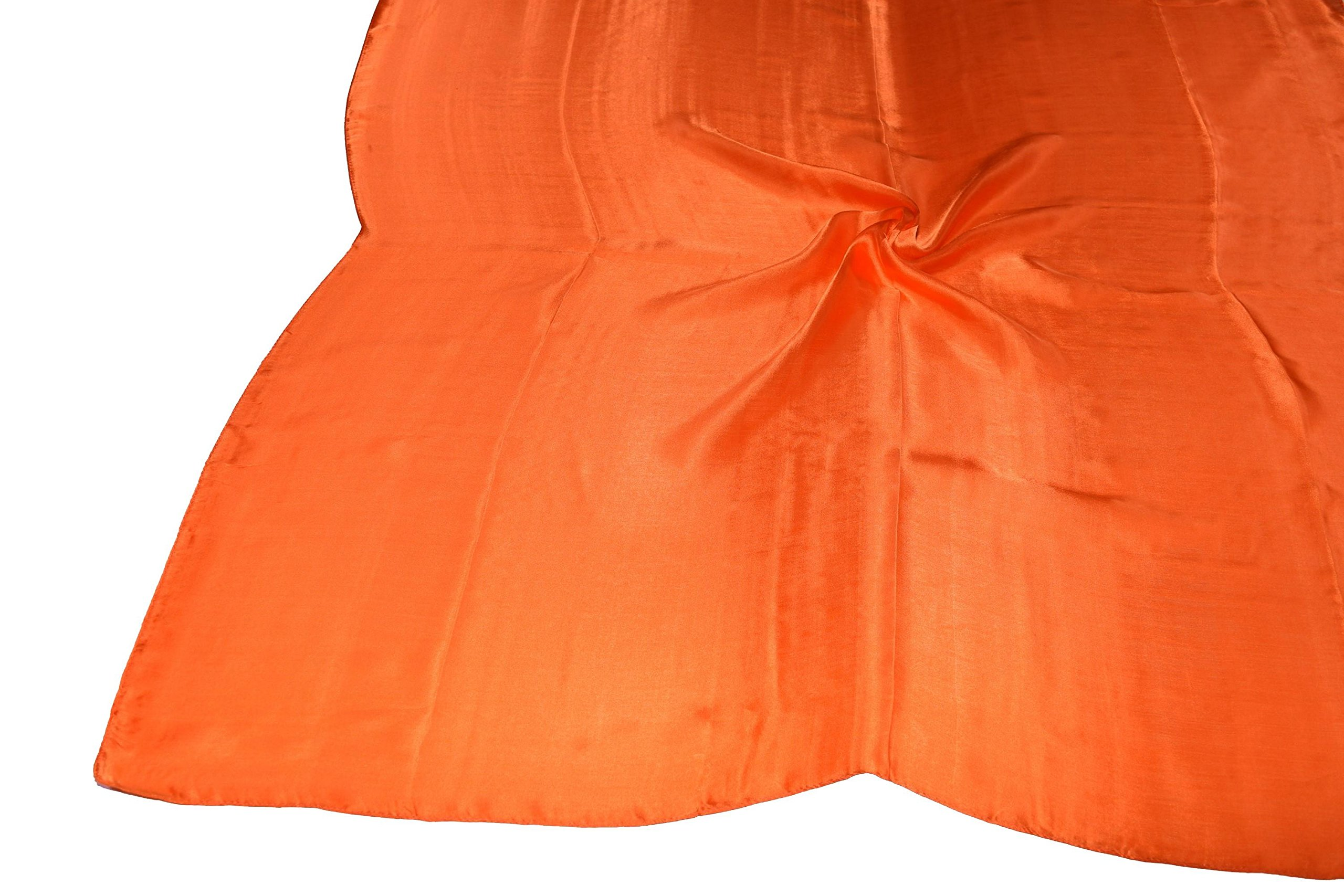 Orange Fine Silk Square Scarf by Bees Knees Fashion (Image #5)