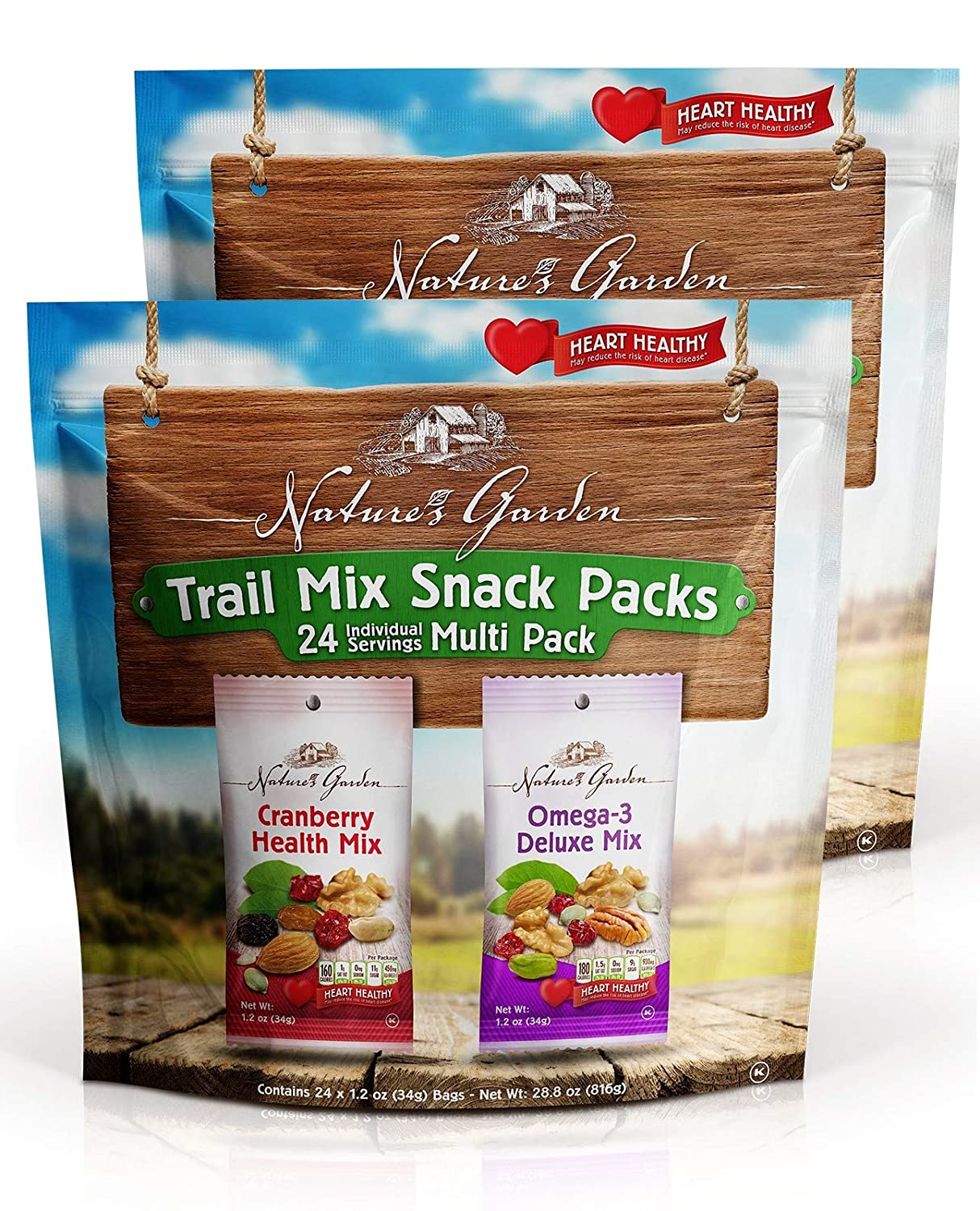 Nature's Garden Trail Mix Snack Pack - 28.8 oz. (Pack of 2)