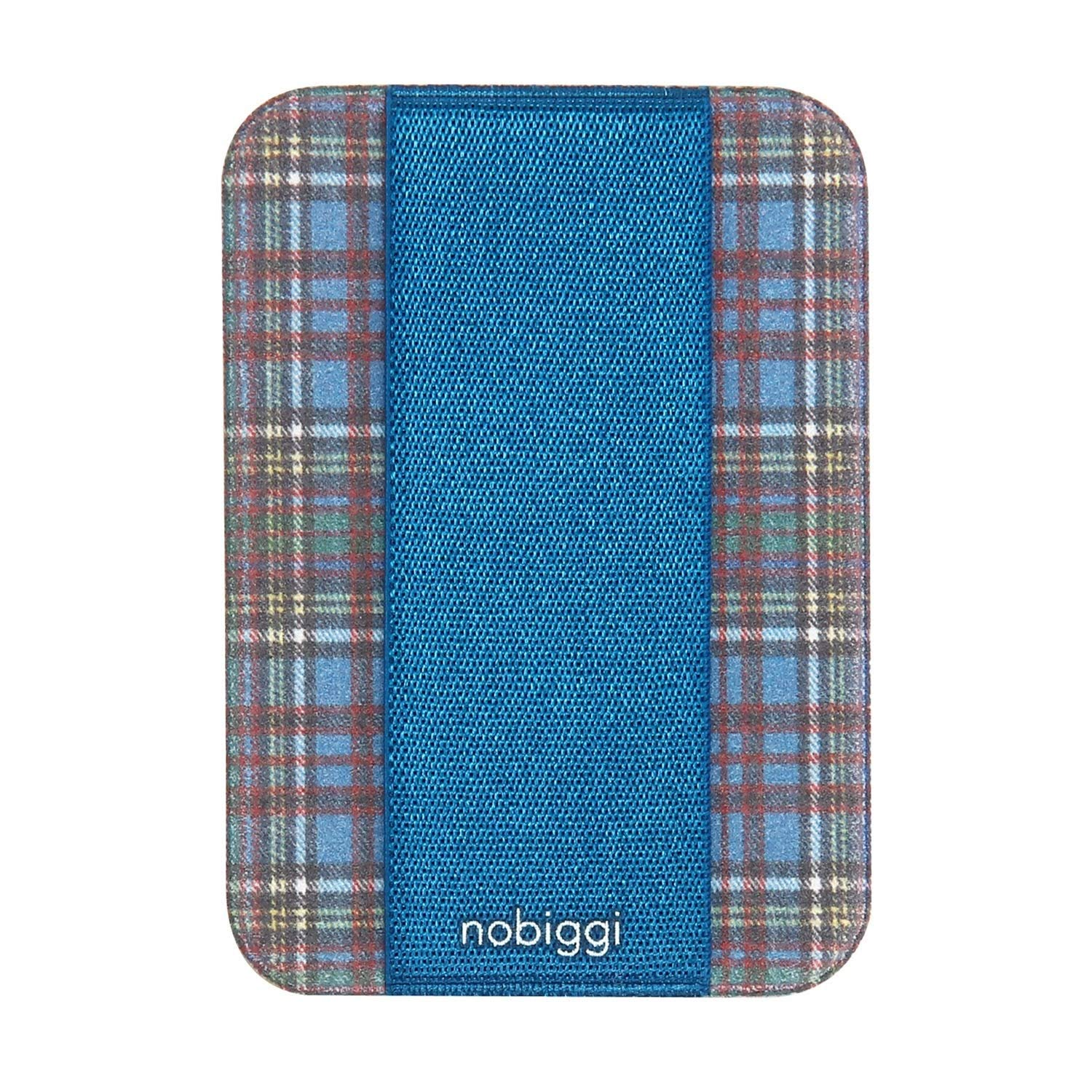 2-Pack nobiggi OG Art Series (Tartan Check Plaid (Blue)) Phone Grip Smartphone Strap by Nobiggi