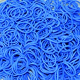 Official Rainbow Loom Rubber Band Refill Pack - Ocean Blue - 600 Bands & 24 C-clips (B0016)