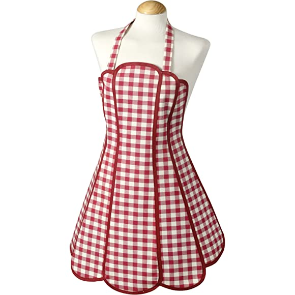 Molly Scarlet Red Gingham Apron by C'est Ca!