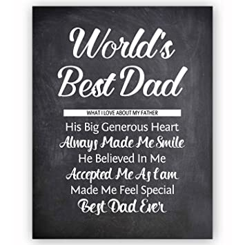 Amazon.com: Dad Quote Chalkboard Wall Art Print Plaque - Great Gift ...