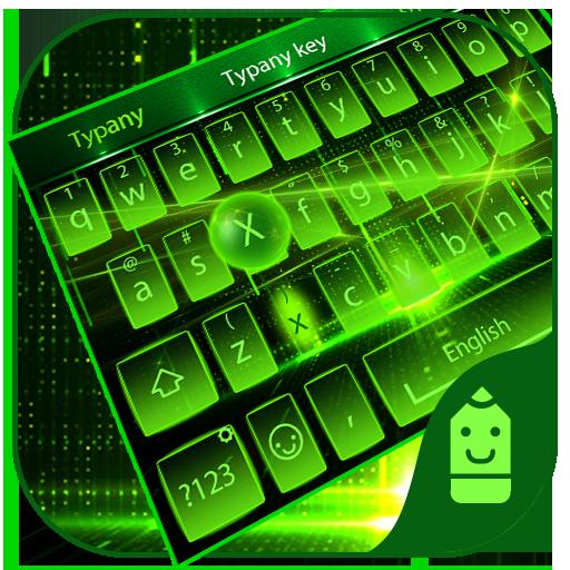 Green light Theme&Emoji Keyboard ()