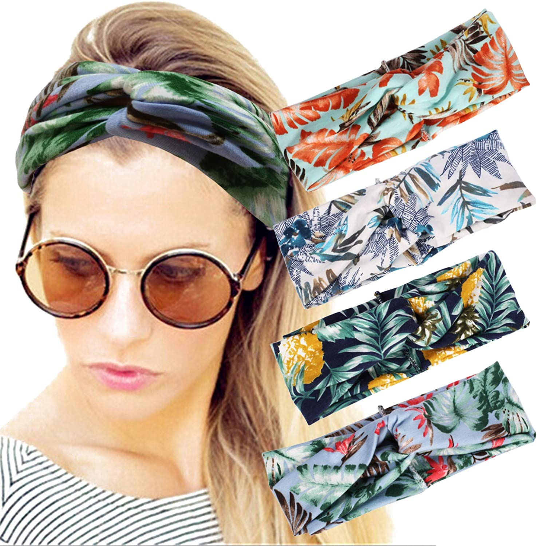 4 Pack Women Headband Boho...