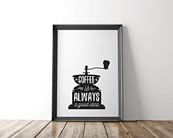 Amazon.de: Nastami Poster Küche DIN A4, Poster Kaffee, Wandbild ...