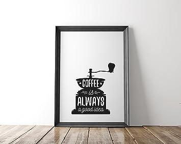 Nastami Poster Küche DIN A4, Poster Kaffee, Wandbild Küche, Poster Vintage,  Küchenposter