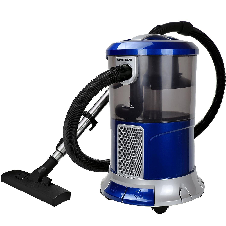 Syntrox Germany –  WS de 2300 W Poseidon Aspiradora con filtro de agua seco y hú medo aspirador