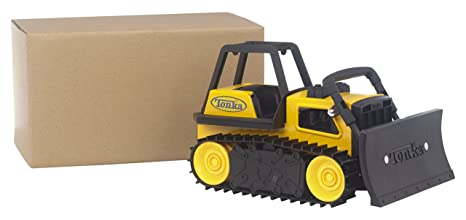 amazon com tonka steel bulldozer vehicle toys games