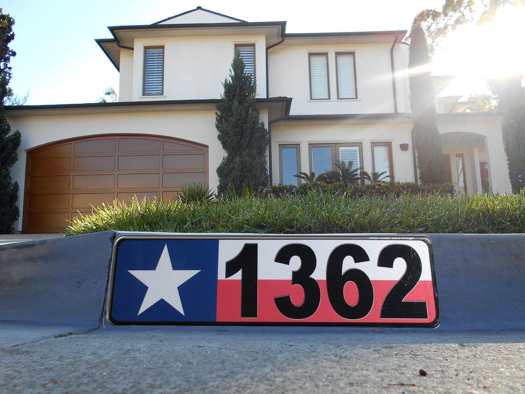 Texas Flag Address Plaque, Reflective