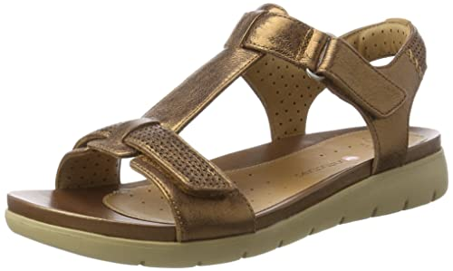 2d53a736f628 Clarks Women s Un Haywood Brown Leather Fashion Sandals - 3 UK India (35.5  EU