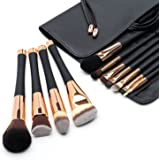 Fancii Professional Makeup Brush Collection, 11 pcs Set High End Cosmetic Brush, Cruelty Free Synthetic Bristles for Foundati