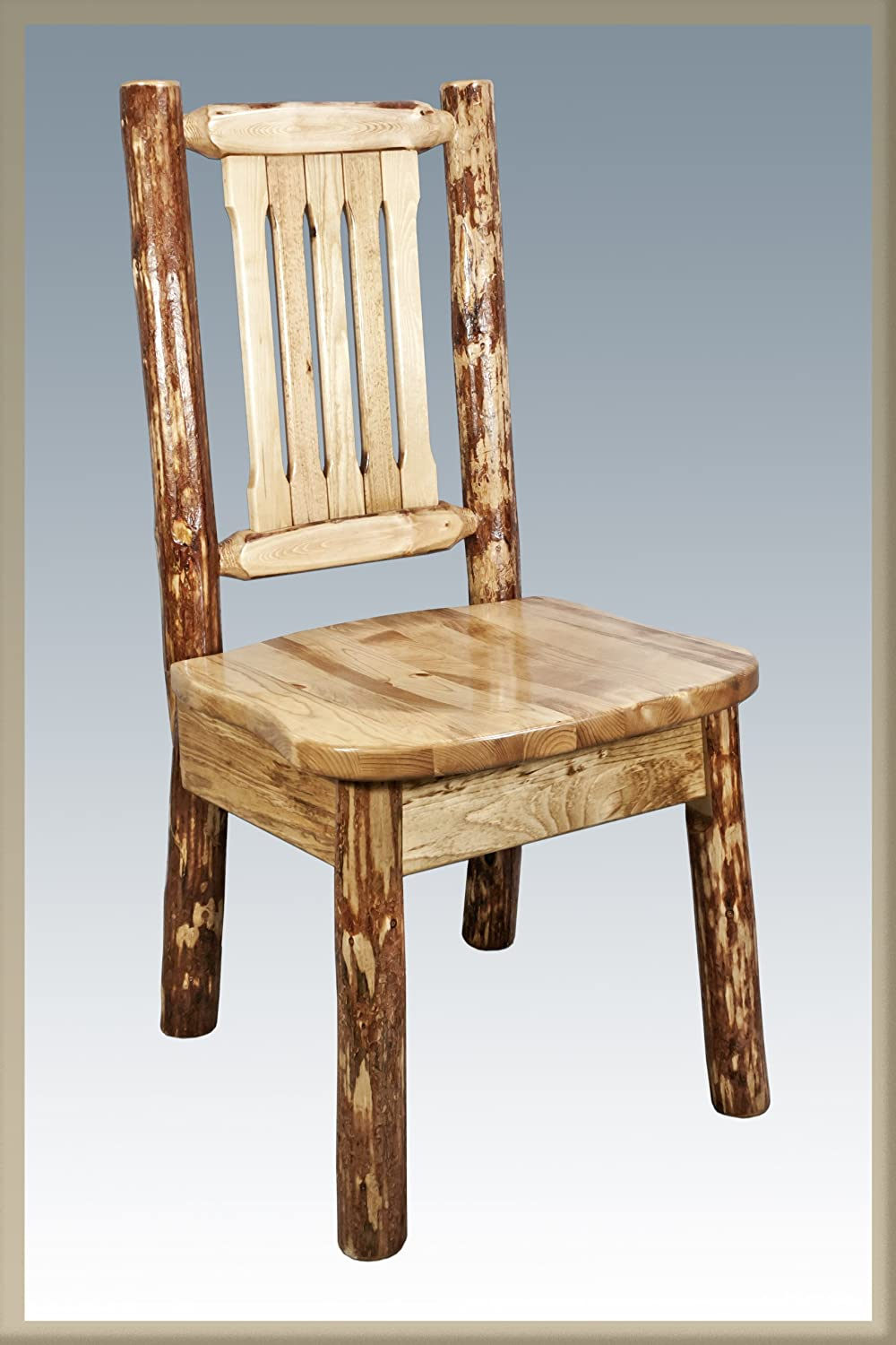 Montana Woodworks Log Furniture – Dining Chair – Glacier Country Collection