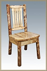 Montana Woodworks Log Furniture - Dining Chair - Glacier Country Collection