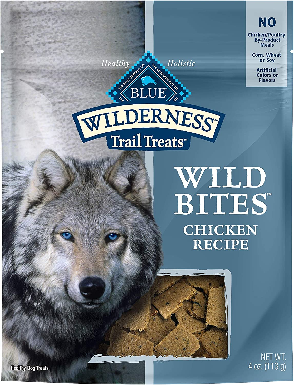 Blue Buffalo Wilderness Trail Treats Wild Bites Grain Free Soft-Moist Dog Treats