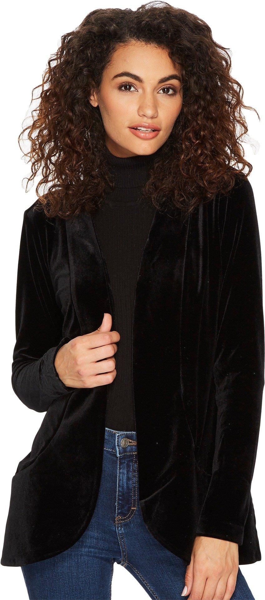 Lyssé Women's Ella Velvet Jacket, Black, S